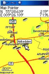 Billede 2: Kort med ikoner omkring Århus