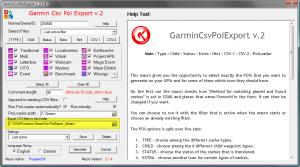 GarminCsvPoiExport-ExportFolder